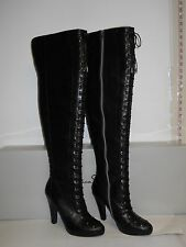 Jessica Simpson New Womens Mitton Black Leather Lace Heel Boots 5.5 M Shoes