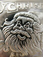 1-OZ .999 SILVER FUN CHRISTMAS SANTA ,RUDOLPH, ELF BAR BULLION OR BARTER + GOLD