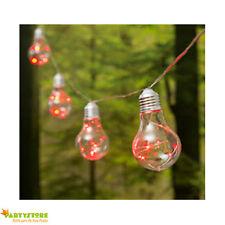 catena 10 lampadine micro led rosso  luci natale luminarie esterno interno