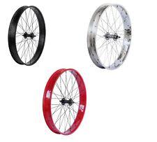 "29"" x 4.0 FAT Wheels Front & Rear disc Mount Red Black Chrome Cruiser Bikes"