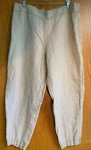 Eileen Fisher Natural Organic Linen Pants XL