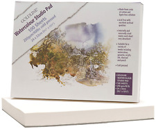 Clairefontaine Goldline Watercolour Studio Glued Pad, 24 x 32 cm, 200 g, 100