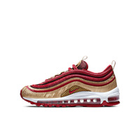 Nike Air Max 97 QS GS NOBLE RED GOLD WHITE BQ4429-600 Big Kid's Youth Women's