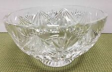 """Signed Heritage Irish Crystal 6-1/2"""" Mouth Blown Hand Cut Bowl Dated 2000!"""