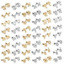 Fashion Stainless Steel Silver/Gold Women/Men Stud Earrings Pierced Body Jewelry
