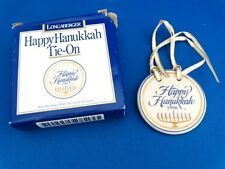 NEW - 1996 Longaberger Happy Hanukkah Tie-On #32301 - Comes In Original Box