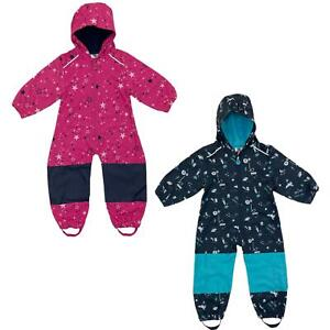 Kids Waterproof Softshell Fleece Lined Puddle All In One Rain Suit Overall
