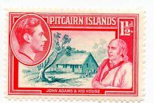 Pitcairn Island; sg 3, 1 1/2d grey and carmine; mint lightly hinged