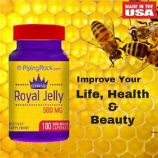 Royal Jelly 500mg x 100 Capsules PipingRock, Supreme Royal Jelly Superfood