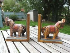 LOVELY PAIR OF VINTAGE WOODEN BOOKENDS.
