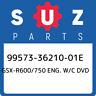 99573-36210-01E Suzuki Gsx-r600/750 eng. w/c dvd 995733621001E, New Genuine OEM