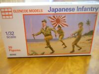GLENCOE/MARX MODELS 1/32ND SCALE JAPANESE INFANTRY FIGURES (20 ASST) NEW IN BOX