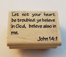 Rubber Stamp Scripture John 14:1 Let Not Your Heart Be Troubled
