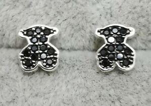 """TOUS 614933520 Silver Motif Earrings with Spinels 7.5mm/0.3"""""""