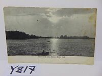VINTAGE POSTED POSTCARD STAMP 1909 PICTURE SYLVAN LAKE ROME CITY, INDIANA IN.
