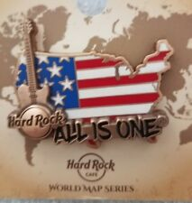 Hard Rock Cafe Pin USA Online - 3D World Map series pin 2017