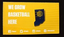 2018 Indiana Pacers NBA Basketball Pinback Lapel Pin Shaped Like State
