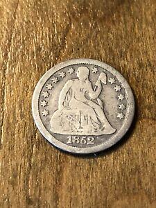 1852 Seated Liberty Dime F