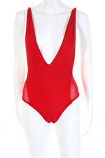 Les Canebiers Womens Tropez One Piece Swimsuit Red Size Extra Small