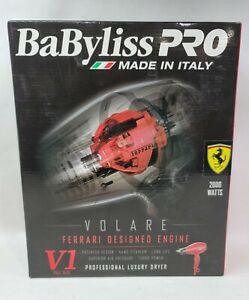 BaBylissPro V1 Volare Ferrari Designed Engine Professional Luxury Hair Dryer Red
