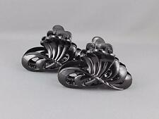 Black 2 hair clips plastic barrette jaw claw clamp clip set pack
