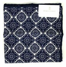 Brunello Cucinelli Blue Silk Blend Pocket Square