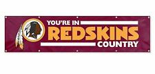 Washington Redskins Country Huge 8x2 Embroidered Applique Flag Banner Football