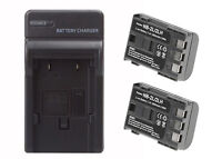 2 Pack NB-2LH Battery + Charger for Canon Rebel XTi EOS 350D 400D G7 G9 1800mAh