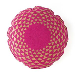 """Shiraleah Caravan Embroidered Round Decorative Pillow, 19"""" MSRP $105 o589"""