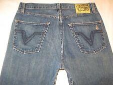Volcom Stone Mens Black Zip Jeans Straight Leg  32 X 27