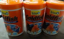 Tetra Goldfish Vitamin C Enriched Flakes - Pack of 3, 2.2 Oz Each (Exp. 02/23)
