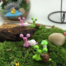 6Pcs Miniature Couples Snails Fairy Garden Landscape Decor Diy Bonsai Crafts
