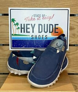 Dude Shoes - Mens - Farty Washed - Cotton - Blue Space