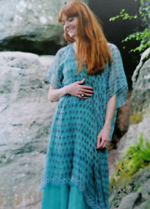 Nila Rubia viscose chiffon Venus dress - turquoise