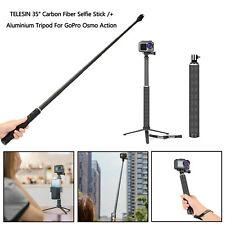 "TELESIN 35"" Carbon Fiber Selfie Stick /+ Aluminium Tripod For GoPro Osmo Action"