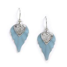 Jody Coyote Earrings JC0422 Atlantis Collection SMC309-01 silver blue heart