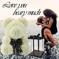 WR Big White Rose Teddy Bear In Box Anniversary Birthday Graduation  Love Gifts
