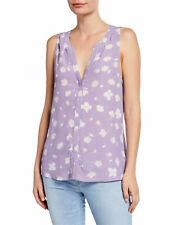 Sanctuary Womens Sz S Craft Sleeveless Floral Slit-Back Printed Top Shirt Purple