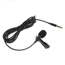 Lavalier Lapel Clip-on Omnidirectional Microphone TRRS 3.5mm Jack Handsfree U2B8
