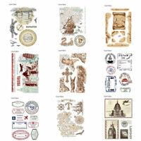Hand DIY Scrapbooking Rubber Stamp SiliconeTemplate Card Album Decor Fashion