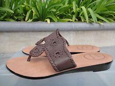 Jack Rogers Capri Flip Flop, Brown Soft Leather Thong Slip-on Sz 7M,  MSRP $138