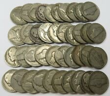 x40 1942-D Circulated ROLL Jefferson Nickel 5c US Coin #27356N