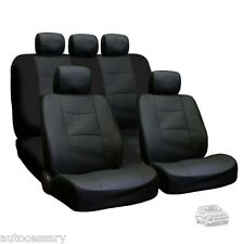 New Porous Black Leatherette Car Seat Covers Set For VW