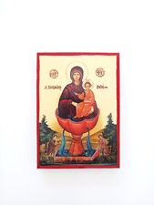 Panagia The Life-Giving Spring small Goldprint Greek byzantine icon handmade
