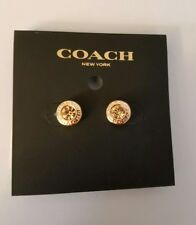 Coach Rose Gold Open Circle Stone 1 Missing Earrings F54516