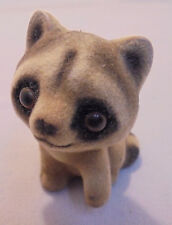 "Josef Original, Fuzzy Raccoon, Gold & Black Sticker, 2"" Tall"