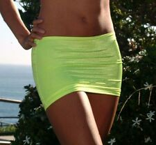 Sexy Yellow Lycra Micro Mini Skirt/Cover Up/Pole Dancer/Model/Made in usa/s-m