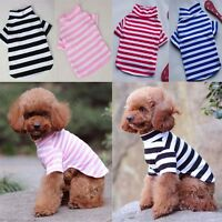 Pet Puppy Stripe T-Shirt Summer Dog Cute Top Vest Clothes Coat Apparel Costumes