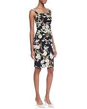 Dolce & Gabbana Floral-Print Ruched Sheath Dress Size: 42IT/8US