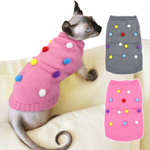 Sweater for Cats to Wear Pet Dog Sweater Winter Small Medium Dog Knitted Clothes